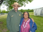 Charles Taylor, National Park Service and Jackie Ward, Ward 8 Constituent Services