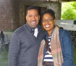 ThatKellieGirl and jazz artist Marcus Johnson at the Anacostia River and Jazz Festival