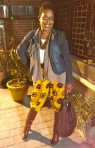 ThatKellieGirl showing off her African inspired pants!