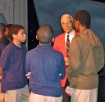 Tuskegee Airman speaking to youth