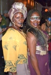 "Queens...Lil SoSo Founder and Brainchild of Black President's Day Risikat""Kat"" Okedeyi and talented singer Ne'a Posey"
