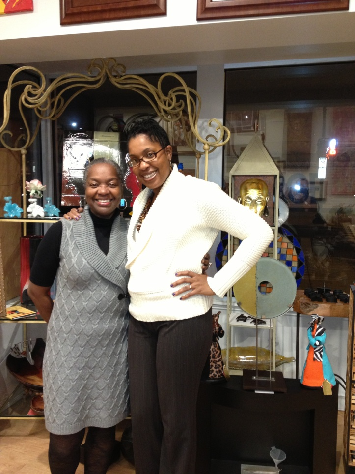 ThatKellieGirl and Edith Rollins Buffalow, owner and curator of Adobe Design Center & Showroom on H St NE