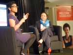 Jacque Reid interviewing Sheila Johnson