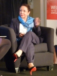 Sheila Johnson speaking at the Verizon Wireless Women's Small Business Empowerment Series