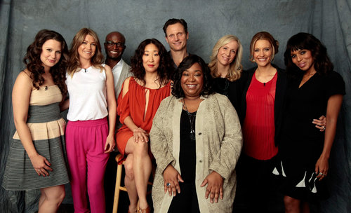 TV Powerhouse Shonda Rhimes- (center) screenwriter, director and producer